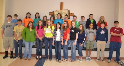 2012 Junior Beta Club Project - Duke Children's Hospital Donation