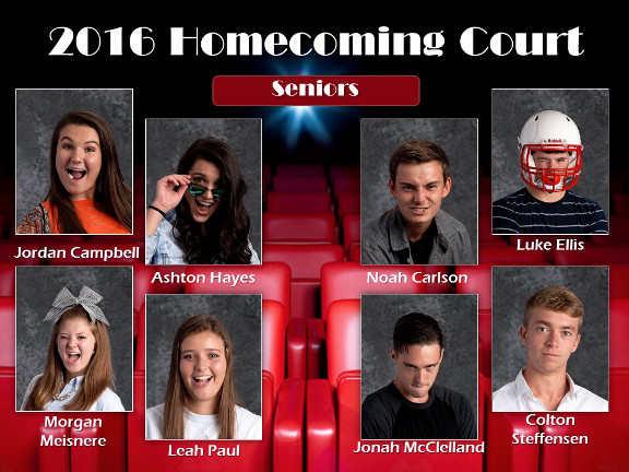 2016 Homecoming Court - Seniors