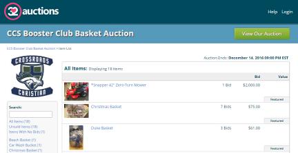 32 Auctions - Online Basket Sale