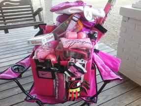 Pink Out Basket - Football