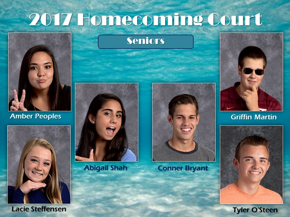 2017-Seniors on Homecoming Court