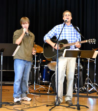 Upper School Chapel - Mr. Russell and Josh Brown