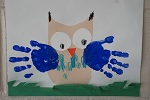 Lower School Art - Owl