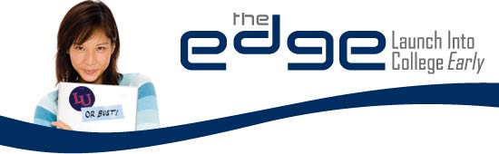 Logo for Liberty University The Edge Program