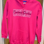 Pink Long-Sleeved 3/4 Zip-Up Hoodie