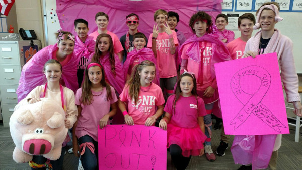 8th Grade Pink Out Winners