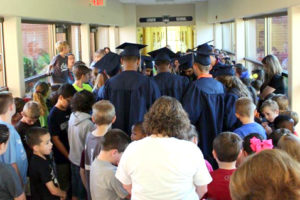 Class of 2017 after their Senior Walk down the Lower School hall